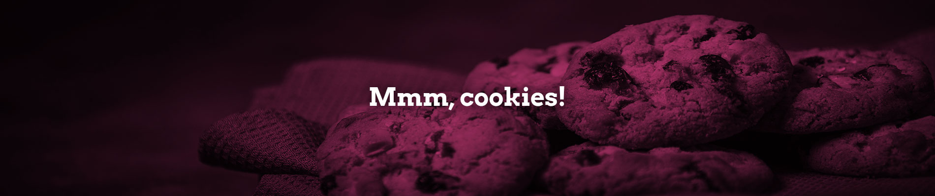 A plate of cookies - to symbolise the cookies used on this website